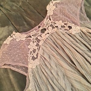 Lace Detail Free People Blouse
